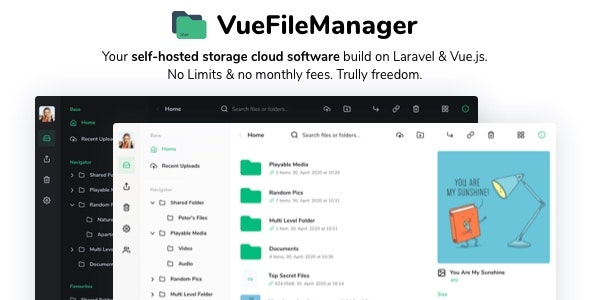 Vue File Manager 1.8.5 - Store, Share & Get Files Instantly