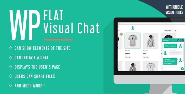 WP Flat Visual Chat 5.394 - Live Chat & Remote View for WordPress