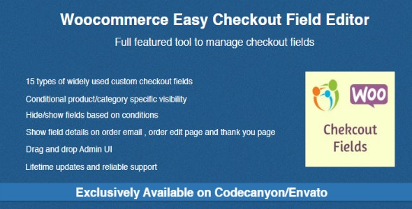 Woocommerce Easy Checkout Field Editor 2.2.0