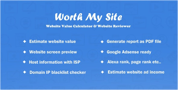 Worth My Site 1.9.9 Nulled - Website Value Calculator