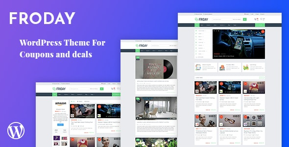 Froday 2.6.0 - Coupons and Deals WordPress Theme