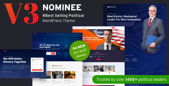 Nominee 3.3.0 - Political WordPress Theme for Candidate/Political Leader