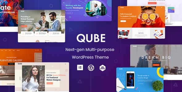 Qube 1.1.2 Nulled - Responsive Multi-Purpose Theme