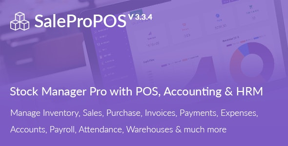 SalePro 3.3.4 Nulled - Inventory Management System with POS, HRM, Accounting