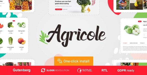 Agricole 1.0.4 - Organic Food & Agriculture WordPress Theme