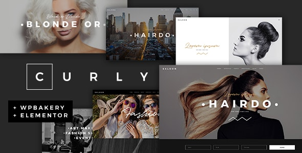 Curly 2.4 Nulled – A Stylish Theme for Hairdressers and Hair Salons