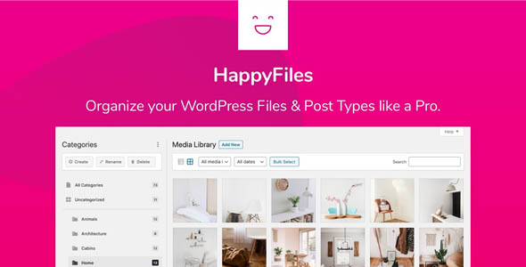HappyFiles Pro 1.5.1 - WordPress Media Folders