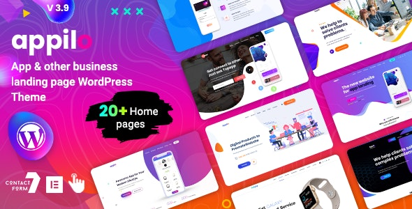 Appilo 5.9 Nulled - App Landing Page