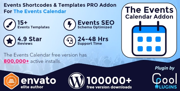 Events Shortcodes & Templates Pro Addon 2.4.2