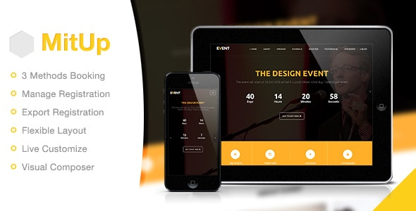 MitUp 1.2.2 - Event & Conference WordPress Theme