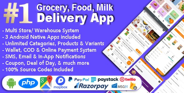 Multi-Store Delivery Android App 1.6.7 Nulled