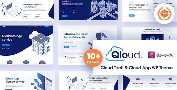 Qloud 1.8 - Cloud Computing, Apps & Server WordPress Theme