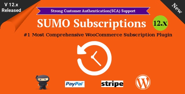 SUMO Subscriptions 12.7 - WooCommerce Subscription System