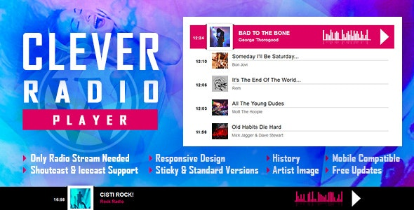 CLEVER 1.7 - HTML5 Radio Player With History