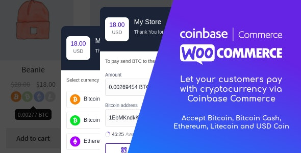 Coinbase Commerce for WooCommerce 1.1.2