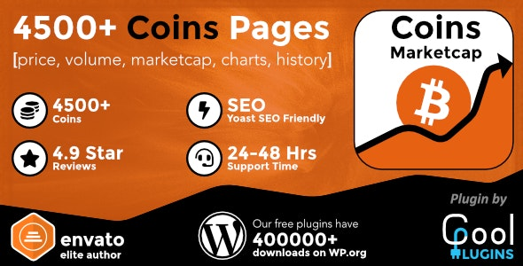 Coins MarketCap 4.2.1 Nulled - WordPress Cryptocurrency Plugin