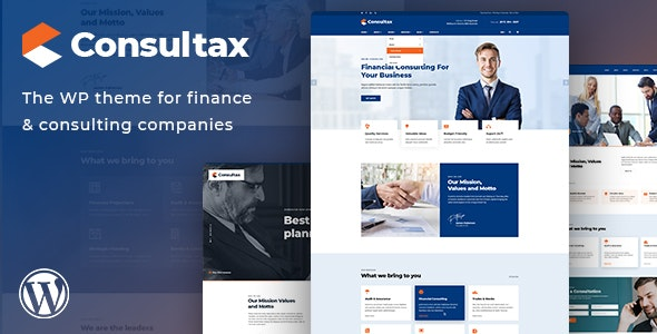 Consultax 1.0.8 - Financial & Consulting WordPress Theme