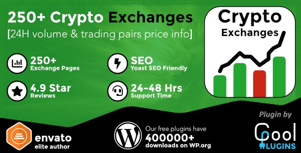 Cryptocurrency Exchanges List Pro 2.2.0 Nulled - WordPress Plugin