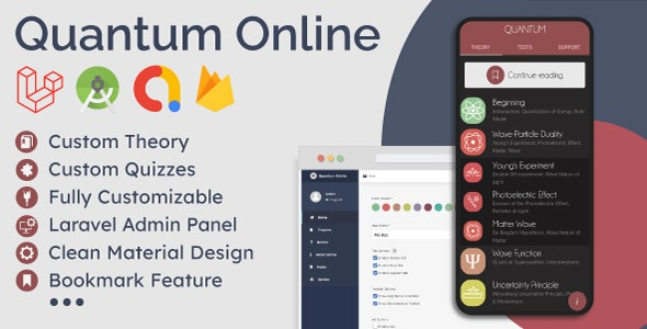 Educational App (Theory & Quizzes) + Admin Panel 1.2.0