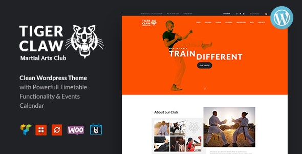 Tiger Claw 1.1.2 - Martial Arts School and Fitness Center WordPress Theme