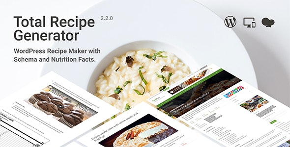 Total Recipe Generator 2.3.2 - WordPress Recipe Maker with Schema and Nutrition Facts
