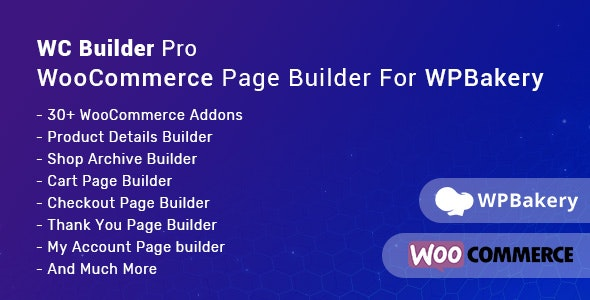 WC Builder Pro 1.0.8 - WooCommerce Page Builder for WPBakery