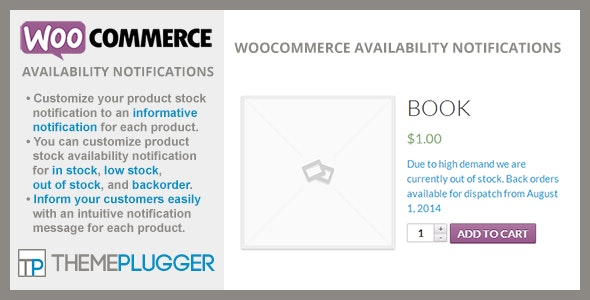 WooCommerce Availability Notifications 1.4.2
