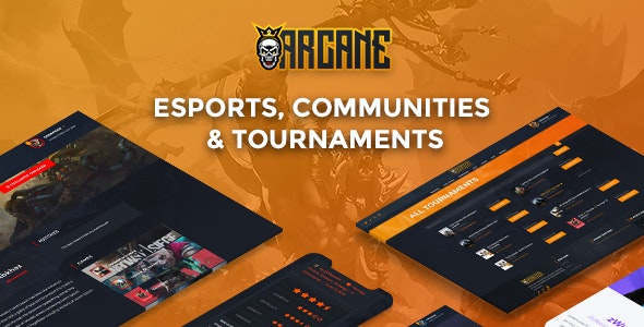 Arcane 3.0 - The Gaming Community Theme