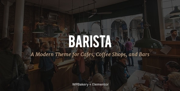 Barista 2.0 - Modern Theme for Cafes, Coffee Shops and Bars