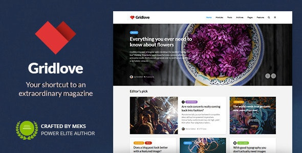 Gridlove 1.9.8 - News Portal & Magazine WordPress Theme
