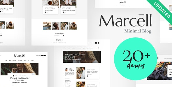 Marcell 1.2.3 - Personal Blog & Magazine WordPress Theme