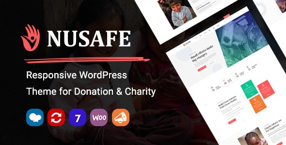 Nusafe 1.5 - Responsive WordPress Theme for Donation & Charity