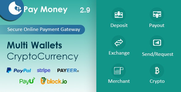 PayMoney 2.9 Nulled + App - Secure Online Payment Gateway