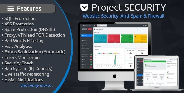 Project SECURITY 4.3 - Website Security, Anti-Spam & Firewall