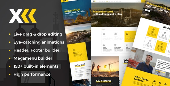 Samatex 2.7 - Industrial WordPress Theme + Woocommerce