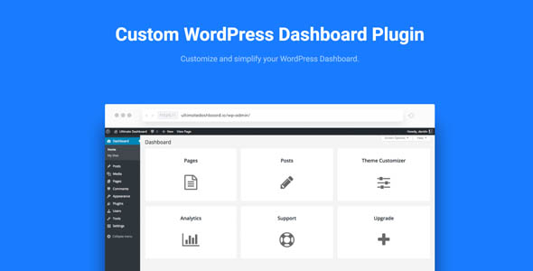 Ultimate Dashboard Pro 3.0 - Custom WordPress Dashboard Plugin