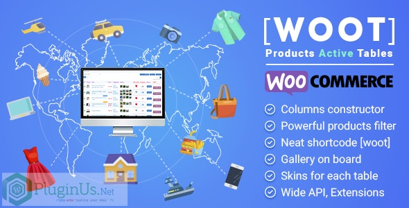 WOOT 2.0.3.1 - WooCommerce Products Tables Professional