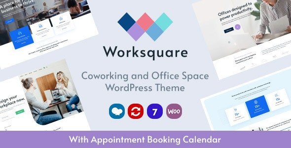 Worksquare 1.5 - Coworking and Office Space WordPress Theme
