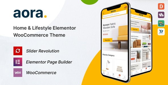 Aora 1.0.5 - Home & Lifestyle Elementor WooCommerce Theme