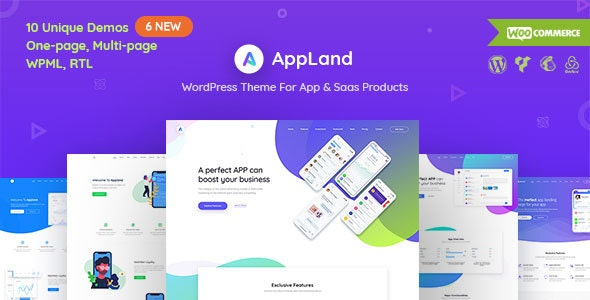 AppLand 2.9.4 - WordPress Theme For App & Saas Products