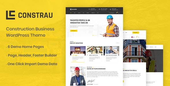 Constrau 1.1.4 - Construction Business WordPress Theme