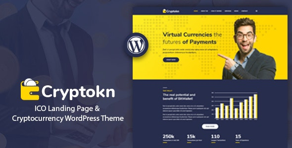 Cryptokn 1.2 - ICO Landing Page & Cryptocurrency WordPress Theme