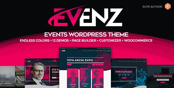 Evenz 1.2.8 - Conference and Event WordPress Theme