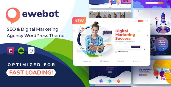 Ewebot 2.3.2 Nulled - SEO Marketing & Digital Agency