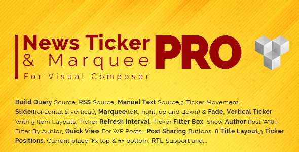 Pro News Ticker & Marquee for WPBakery Page Bilder 1.3.3