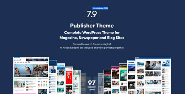 Publisher Pro 7.9.0 RC5 Nulled - Newspaper and Magazine WordPress Theme