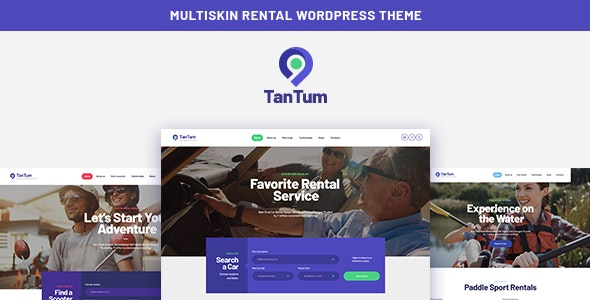 TanTum 1.1.2 Nulled - Car, Scooter, Boat & Bike Rental Services WordPress Theme