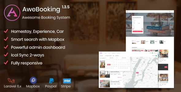 AweBooking 1.3.5 - Awesome Booking System