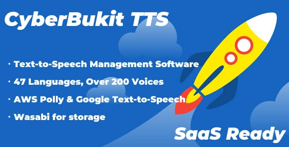 CyberBukit TTS 1.0.2 Nulled - Text to Speech - SaaS Ready