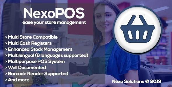 NexoPOS 3.15.56 Nulled - Extendable PHP Point of Sale